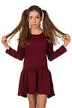 Осенне-весеннее платье из структурной плотной ткани для девочки 134-152р, фото 2