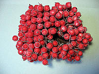 """Ягода красная, """"в сахаре"""", 12 мм, 2 штуки на проволоке"""