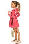 Прелестное платье с рюшами на груди для девочки 110-116р, фото 3