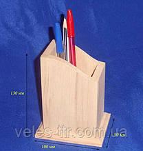 Подставка для карандашей и ручек 10х8х13 см Дерево заготовка для декора