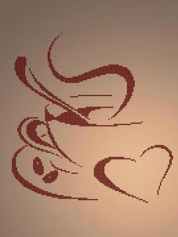 Схема для вишивки та вишивання бісером Бисерок «Чашка кави» (A3) 30x40 (ЧВ-5088(10))