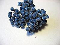 """Ягода синяя, """"в сахаре"""", 12 мм, 2 штуки на проволоке"""
