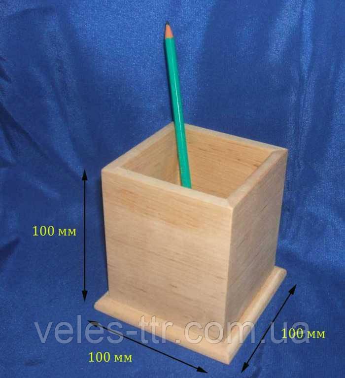 Підставка для олівців і ручок 10х10х10 см Дерево заготівля для декору