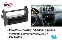 Рамка магнітофона 1Din ACV Mercedes Віто Vito 639 Sprinter 906 Crafter
