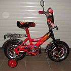 Детский велосипед Mustang Тачки 12 дюймов черно-красный, фото 2