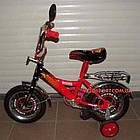 Детский велосипед Mustang Тачки 12 дюймов черно-красный, фото 3