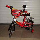 Детский велосипед Mustang Тачки 12 дюймов черно-красный, фото 4