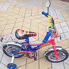 Детский велосипед Mustang Тачки 12 дюймов сине-красный, фото 3