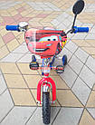 Детский велосипед Mustang Тачки 12 дюймов сине-красный, фото 5