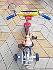 Детский велосипед Mustang Тачки 12 дюймов сине-красный, фото 6