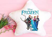 """Удивительная светящаяся подушка-ночник с любимыми героями из мультфильма """"Холодное сердце"""""""