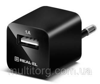 Зарядное USB-устройство REAL-EL CH-1U black USB