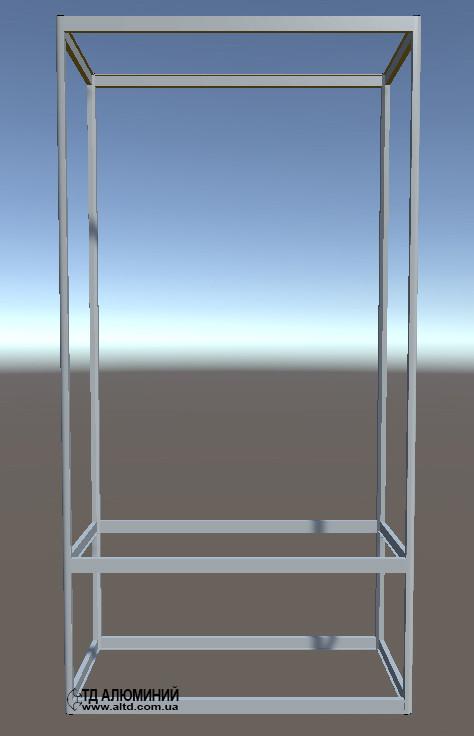 Стеллажи витрины   Конструктор из торговых профилей М-19