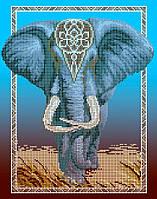 Схема для вишивки та вишивання бісером Бисерок «Слон» (A3) 30x40 (ЧВ 4f9ddc483b4c7
