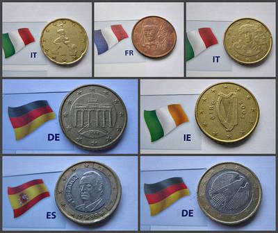 Євромонети Євроценти Монети Європи