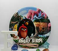 Тарелки праздничные детские Angry birds 18 см