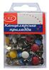 Кнопка №1021 Гвоздик 100шт цветная,  пластиковая головка уп12