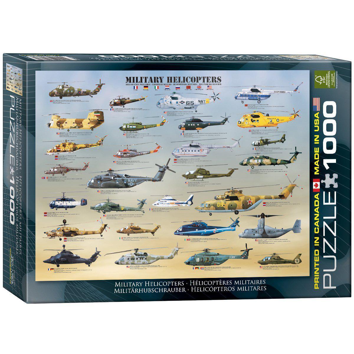 """Пазл """"Військові вертольоти"""" 1000 елементів EuroGraphics (6000-0088)"""