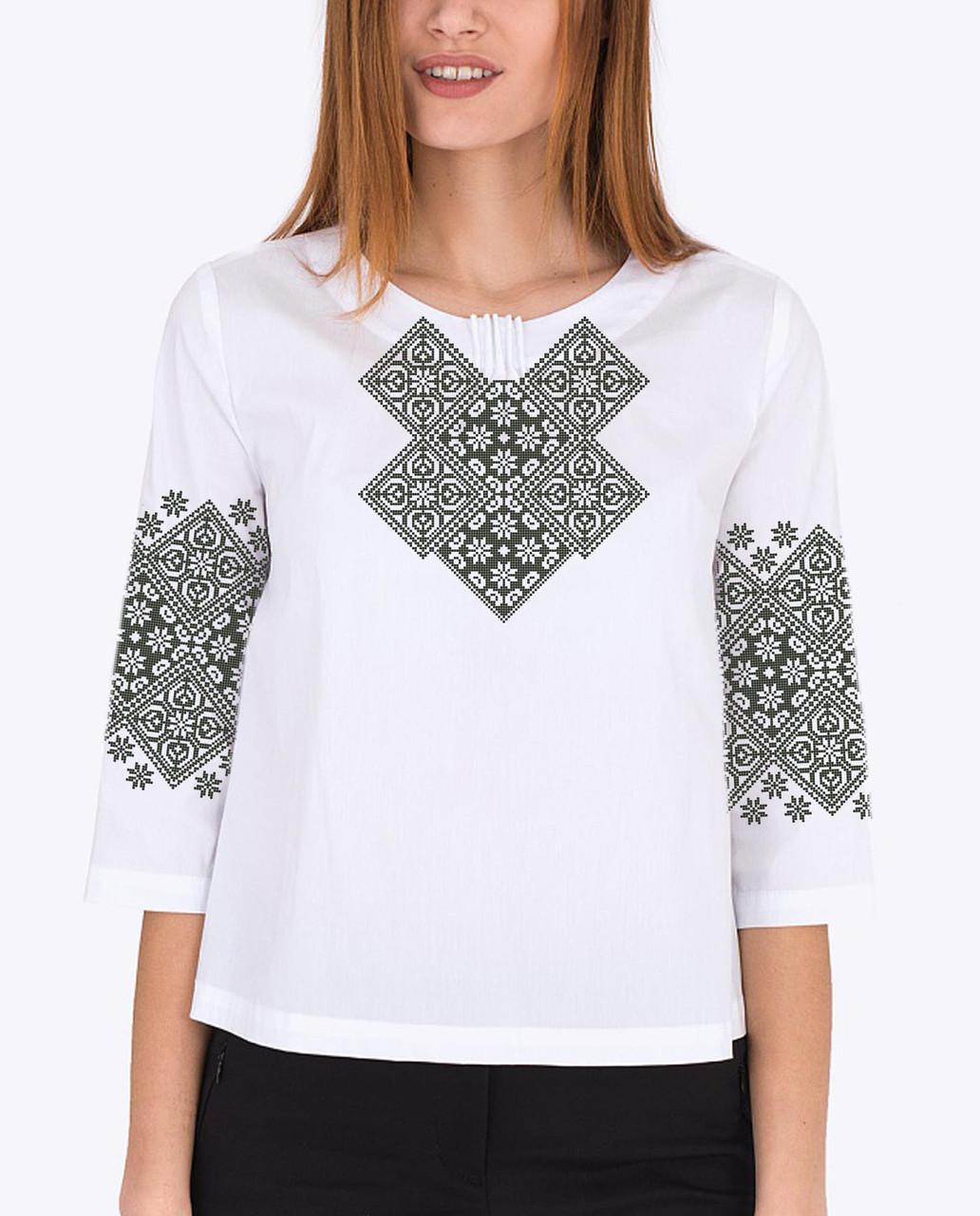 Заготовка вишиванки жіночої сорочки та блузи для вишивки бісером Бисерок «Бабусина скриня» (Б-152)