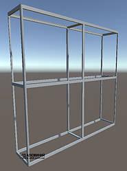 Торговое оборудование стеллажи | Конструктор из торговых профилей М-23