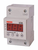 Реле контроля напряжения однофазное 63А c индикацией E.NEXT e.control.v09