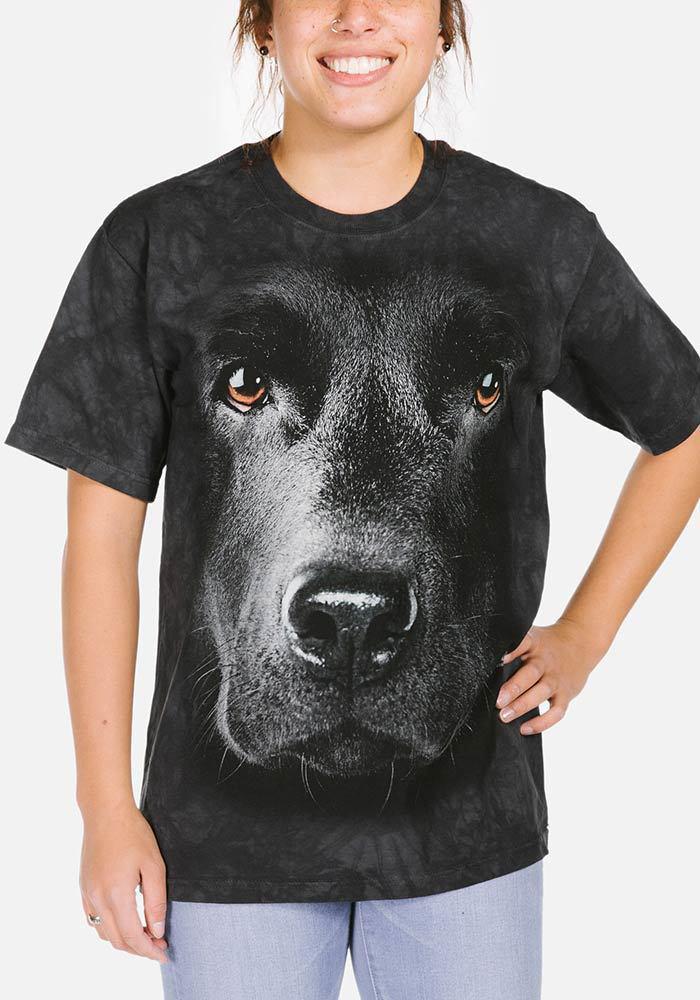 3D футболка женская The Mountain р.XL 54-56 RU футболки женские с 3д рисунком (Черный Лабрадор)