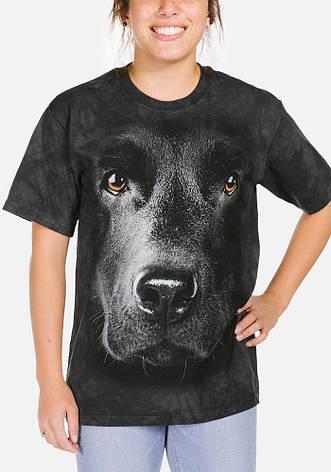 3D футболка женская The Mountain р.XL 54-56 RU футболки женские с 3д рисунком (Черный Лабрадор), фото 2
