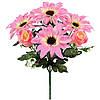 Букет искусственных цветов Роза бутон с герберой , 32 см
