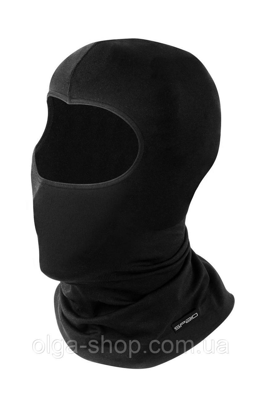 Термошапка женская мужская черная SPAIO Simple W02 (термобелье бесшовное, дышащее)