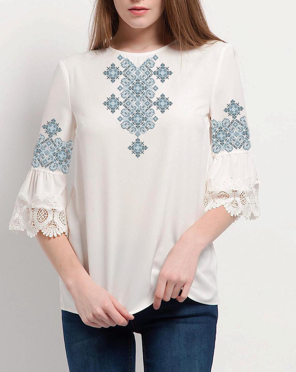 Заготовка вишиванки жіночої сорочки та блузи для вишивки бісером Бисерок  «Зорепад» (Б-153 )  4247741819d6f