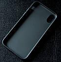 Силиконовый чехол для Apple iPhone X (черный), фото 2