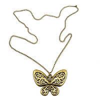 Винтажный кулон Бабочка, бронза