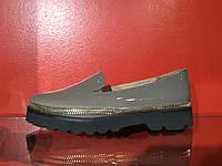 Туфли с натуральной лакированной кожи