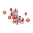 Люверсы Блочки для рукоделия 3мм разные цвета 25шт в наборе, фото 7