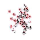 Люверсы Блочки для рукоделия 3мм разные цвета 25шт в наборе, фото 9