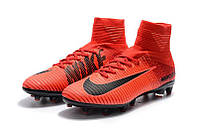 Футбольные бутсы Nike Mercurial Superfly V AG-Pro Bright Crimson/White/University Red (топ реплика)