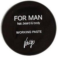 Vitality's For Man Working Paste Матирующая паста для волос, 75 мл