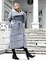 Пуховик-одеяло серый