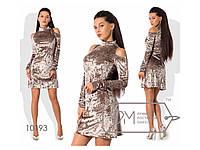 Платье бархатное, коктейльное платье. Разные цвета и размеры., фото 1