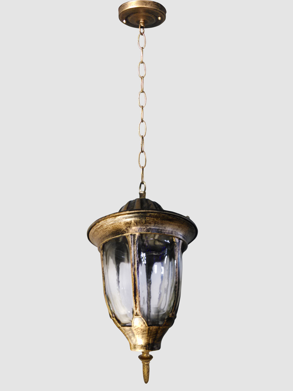 Ліхтар підвісний (35х16х19,5 див) Золото постарене YR-9028-h/s-p