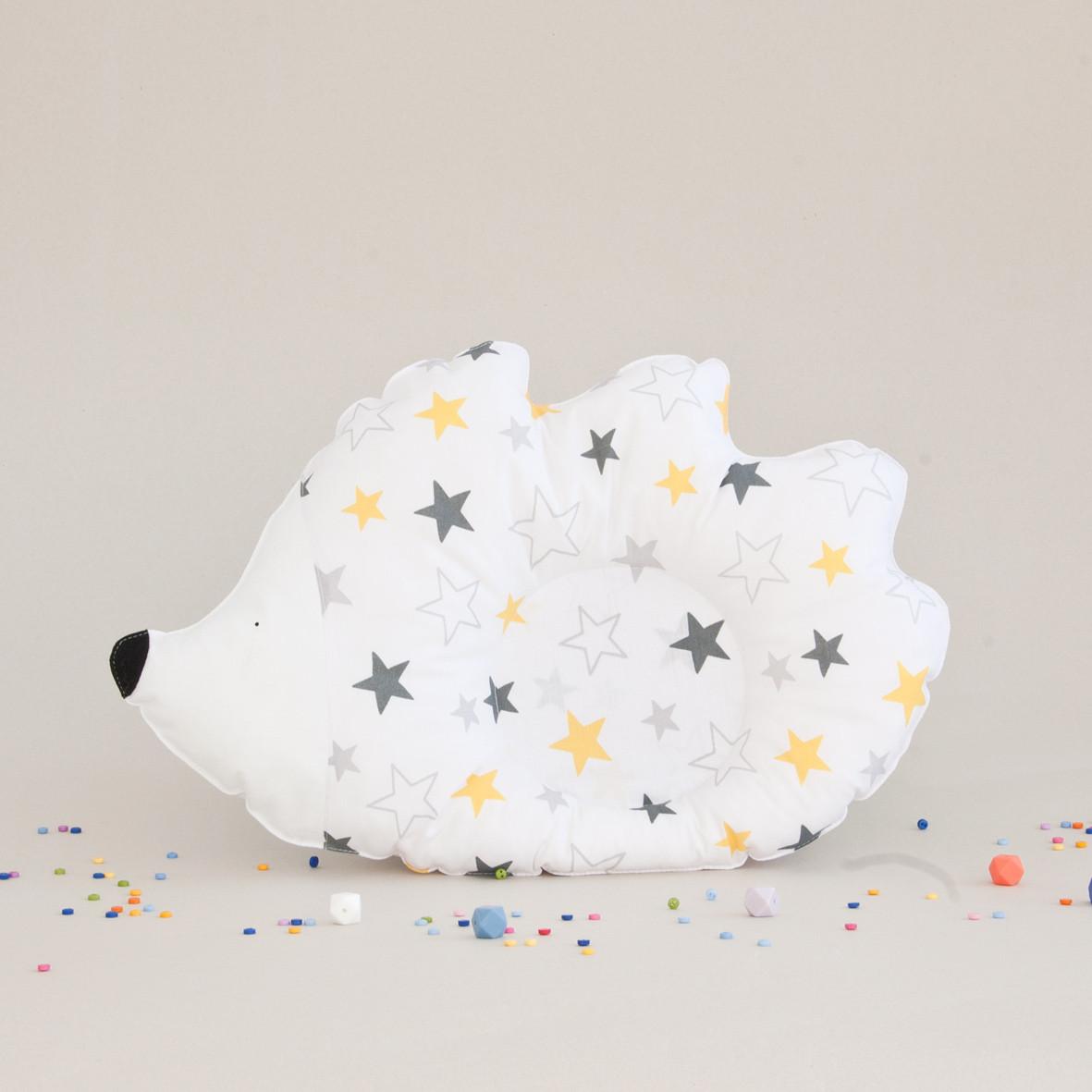 "Подушка детская ""Ежик"", yellow stars"