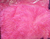 Покрывало плед травка 160х200 Koloco исскуственный мех. Корал.
