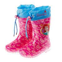 Детская обувь резиновые сапоги Princess (Принцессы) на девочку (размеры: 22-32) ТМ ARDITEX WD9813