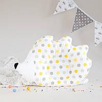 """Подушка детская """"Ежик"""", yellow dots, фото 1"""