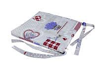 Подушка на стул, Лаванда Сердце, Эксклюзивные подарки, Домашний текстиль текстиль