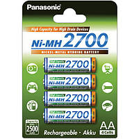Аккумуляторы Panasonic 2700 mAh, AA, HR6, Ni-Mh, упаковка 4шт.