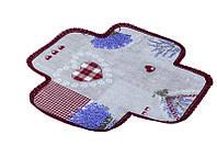 Салфетка в хлебницу, Лаванда Сердце, размер 35х35см, Оригинальные подарки, Домашний текстиль текстиль