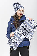 Женский комплект шапка и шарф