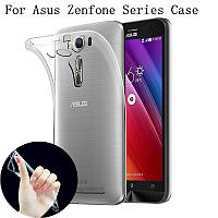 Прозрачный Slim чехол Asus Zenfone Go ZB552KL (0,3 мм)
