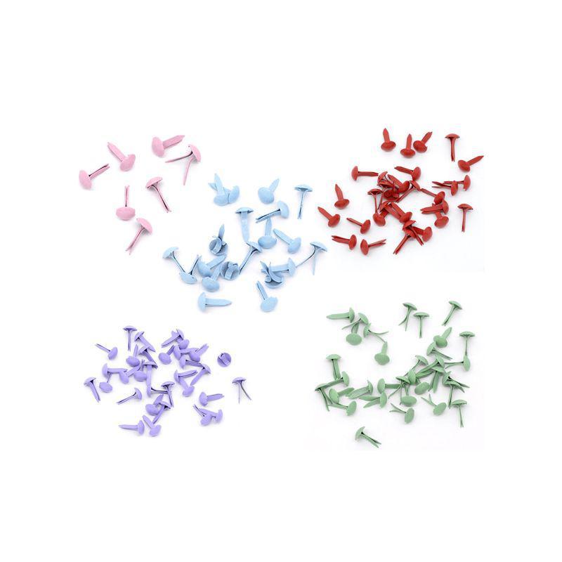 Брадсы для рукоделия 5мм разные цвета 25шт в наборе